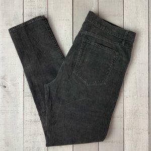 Loft Modern Skinny gray corduroy pants